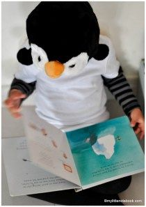 dress up costume for the world book day - penguin from the lost and found book by oliver jeffers