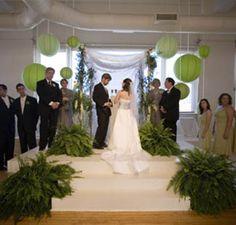 indoor ceremony background ideas :  wedding ceremony decor