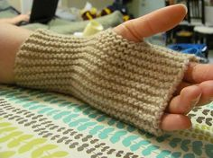 Ravelry: Easy Garter Stitch Fingerless Mittens pattern by Kelly Meneely