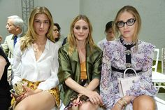 Olivia Palermo (C) and Chiara Ferragni (R) attend the Giambattista Valli Haute Couture Fall/Winter 2016-2017 show as part of Paris Fashion Week on July 4, 2016 in Paris, France.