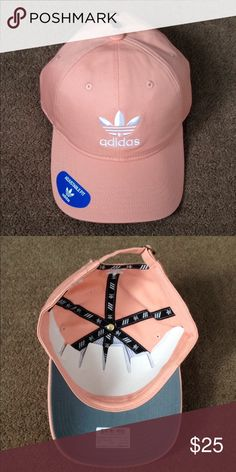 Adidas hat Brand new Adidas hat dust pink and white adjustable fit adidas  Accessories Hats 72fc4302096c