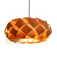Wood Pendant lighting,Braids Hanging 3-Light Pendant lamp! made of Chinese Ash…