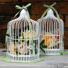 £14.99 White Birdcage could be filled with cream flowers