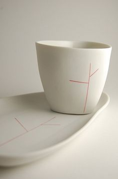 yasha butler - Red Tree Cup and Plate