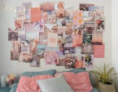Peachy Pink Collage Kit Collage Wall Decor is part of Wall collage decor Decorate your dorm or room with this peachy pink collage kit Feel free to use however you like, you can overlap the prints, - Collage Mural, Wall Collage Decor, Bedroom Wall Collage, Photo Wall Collage, Room Wall Decor, Bedroom Decor, Collage Ideas, Bedroom Inspo, Picture Collages