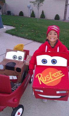 homemade lightening and mater costumes
