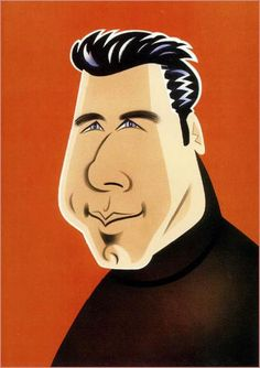 Caricatures of celebrities by American artist Robert Risko Funny Caricatures, Celebrity Caricatures, Celebrity Drawings, Celebrity Portraits, Celebrity Faces, John Travolta, History Of Illustration, 3d Pencil Drawings, Murals Street Art