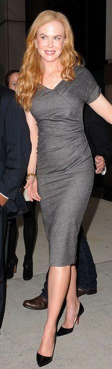 Nicole Kidman: Dress - Dior Shoes - Christian Louboutin Watch - Omega similar style dress Christian Louboutin Pointed-Toe Black Leather Pump