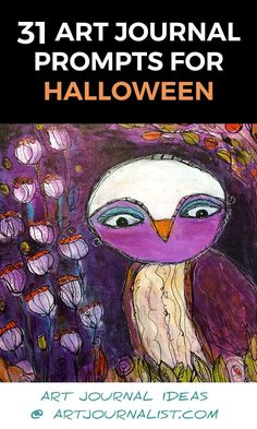 These 31 Halloween Art Journal Prompts are sure to inspire your creativity with all sorts of fun page ideas in your journals and planners this October. Art Journal Prompts, Art Journal Techniques, Journal Paper, Art Journal Pages, Art Journals, Journal Ideas, Halloween Kunst, Kunstjournal Inspiration, Art Challenge