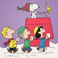 Peanuts Charlie, Linus, Lucy, Snoopy and Woodstock