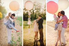 Globos gigantes para la sesión de fotos antes de la boda #bodas #ElBlogdeMaríaJosé #FotosBoda #DecoraciónBoda #TendenciasBoda #Wedding