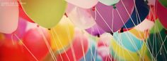 Colorful balloons Facebook cover