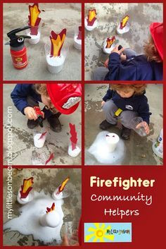 My Little Sonbeam: November Week 1- Community Helpers transportation: Firefighter. Lesson plans, activities and dramatic play ideas for community helpers. Pretend play and role playing. Mylittlesonbeam.blogspot.com {preschool homeschool craft and learning activities for ages: 2 3 4}