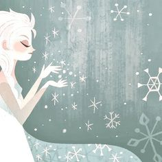"""Frozen art from """"Anna's Act of Love""""/""""Elsa's Icy Magic"""""""