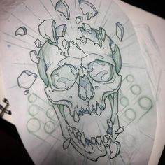 35 Ideas for drawing tattoo skull bones Skull Tattoo Design, Skull Tattoos, Body Art Tattoos, Tattoo Designs, Key Tattoos, Foot Tattoos, Sleeve Tattoos, Tattoo Sketches, Tattoo Drawings