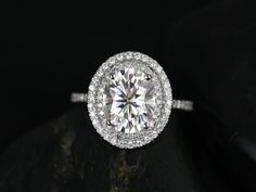 Original Cara 14kt White Gold Thin Oval FB by RosadosBox on Etsy, $3295.00