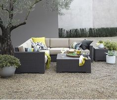 All-weather and all-style, these outdoor cushions and outdoor pillows will bring a touch of the indoors to the outdoors, pulling your home together all the way through to the exterior. Lounge Chair Cushions, Outdoor Cushions, Outdoor Lounge, Outdoor Seating, Outdoor Living, Armless Chair, Outdoor Ideas, Outdoor Tables, Gardens