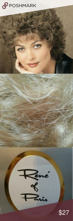 "Renee of Paris ""Wanda"" wig/gold blonde Length 3 1/2 inches Model # 2302 Wanda Color Gold Blond Modacrylic fiber Easy care Renee of Paris Other"