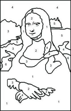 paint by numbers mona lisa - Google Search
