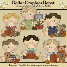 Little Marvin Happy Fall - Clip Art - $1.00 : Dollar Graphics Depot, Quality Graphics ~ Discount Prices