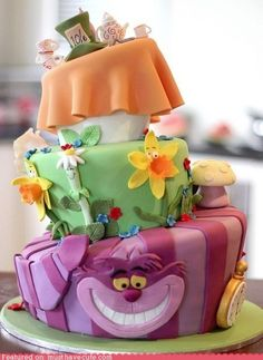 Alice in Wonderland cake, Disney version. I think I'd like one based on the Tim Burton version.