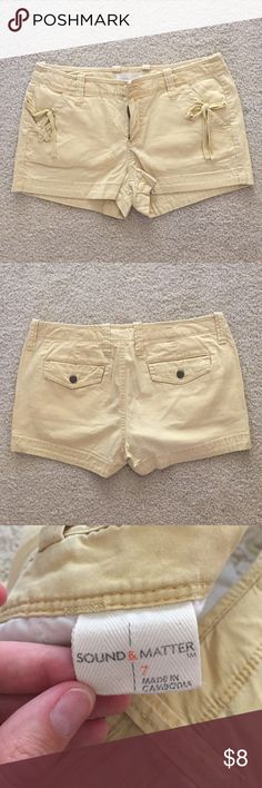 "🎉BOGO 50% off🎉 Sound & Matter Cotton Shorts Decorative bows on front pockets, 2"" inseam Sound & Matter  Shorts"