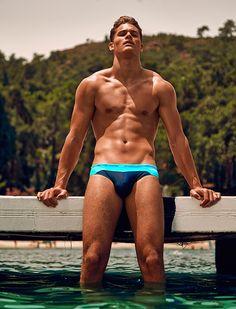 Tyler Maher Models Summer Swimwear for Attitude image Tyler Maher Attitude Swimwear Daniel Jaems AUSSIEBUM