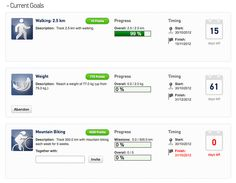 We're introducing Goals as a new feature. You can create goals on achievements, workouts, and your weight. #q