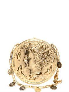 Miss Glam Brass Coin Shoulder Bag