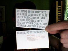 Ha! Amusing business card.