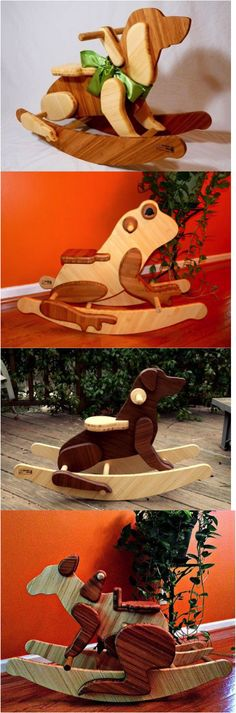 Custom rocking animal (I'll build anything but a horse -- horses have already been done :) ) made out of bamboo. Would love to make a perfect custom one for your ideal nursery or children's room. | Hatch.co