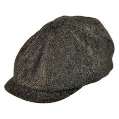 Failsworth Hats Donegal Tweed Flat Cap Patchwork Red 57cm Medium