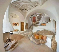 Underground house on a hill