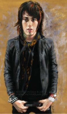 Ronnie Radke: lead singer of Falling in Reverse and previous lead singer of Escape the Fate. - This website is so cool, on some of the prints(like the Hayley Williams from Paramore print) when you buy she donates 100% of the profit to TWLOHA(To Write Love on her Arms)! Check out the other bands and individuals she has drawn!