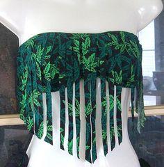 420 pot leaf fringe bandeau top on Etsy, $29.95