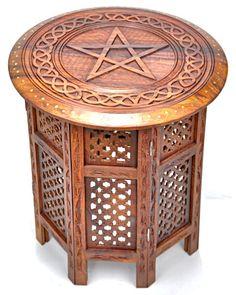 Carved Wood Pentacle...
