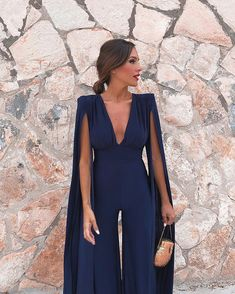 Missord 2019 New Summer Sexy Deep V Bodysuits Elegant Rompers Chiffon Long Sleeve Backless Sexy Bodycon Jumpsuit Prom Outfits, Classy Outfits, Cocktail Outfit, Looks Style, Mode Inspiration, Elegant Dresses, Dress To Impress, Designer Dresses, Evening Dresses