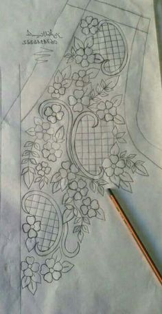 Embroidery Patterns for our Embroidery Project - Embroidery Patterns Zardozi Embroidery, Gold Embroidery, Hand Embroidery Stitches, Hand Embroidery Designs, Embroidery Applique, Embroidery Patterns, Machine Embroidery, Applique Designs, Tambour Beading