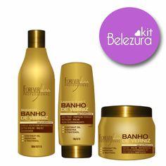 Linha Banho de Verniz Forever Liss Brilho Intenso e Hidratação para seus cabelos www.belezaavista.com.br