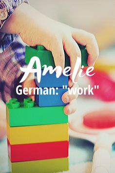 """Amelie is a lovely name for parents who are entrepreneurs or value work ethic. Pronounced AM-el-ee, this name has French and German roots and is a variation of the very popular Amelia, meaning """"work"""". It was ranked #721 IN 2018 and there were 390 girls given this name in 2018.   #babynames #girlnames #uniquenames Modern Baby Girl Names, Baby Names, Unique Names, Work Ethic, Writing Resources, Amelie, Roots, Parents, Amelia"""
