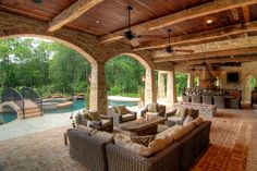 Inexpensive Outdoor Living Spaces   ... connect this outdoor living space seamlessly with the inside design