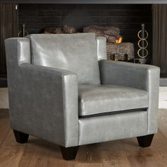 Christopher Knight Home Quaker Leather Club Chair   Overstock™ Shopping - Great Deals on Christopher Knight Home Living Room Chairs