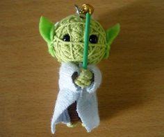 Yoda String doll Voodoo doll keychain / FREE Shipping by narakdoll, $6.99