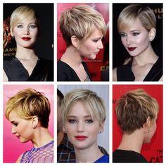 Pixie Haircut Color, Pixie Haircut Styles, Longer Pixie Haircut, Cute Short Haircuts, Pixie Hairstyles, Short Hairstyles For Women, Pixie Styles, Jennifer Lawrence Pixie, Short Hair Cuts