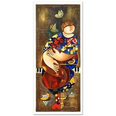 """""""Tranquility"""" Limited Edition Serigraph by Dorit Levi signed w/COA"""