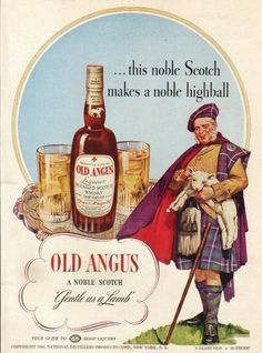 Old Angus Scotch Whiskey ad 1940