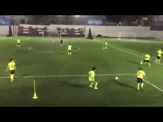 Entrenamiento de Futbol. Secuencia de pases con tercer hombre.