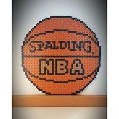 Basket ball perler beads by perlienchen