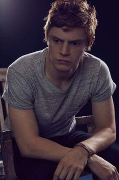 Evan Peters looks mighty fine with red hair