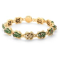 Estate Fine Jewelry Vintage Enamel & Diamond Frog Link Bracelet ($4,200) ❤ liked on Polyvore featuring jewelry, bracelets, no color, vintage bracelet, diamond bangle, vintage diamond jewelry, bracelet bangle and vintage bangle